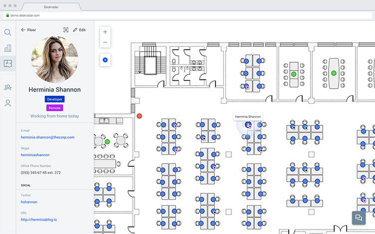 Deskradar Interactive Office Floor Plan Software For Growing Teams